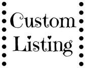 Custom Order for schnees