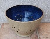 Berry bowl or colander hand thrown stoneware ceramic pottery handmade wheelthrown