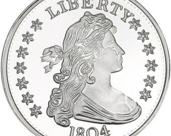 Nice Gift Idea!! 1804 Silver Ounce  FREE SHIPPING USA