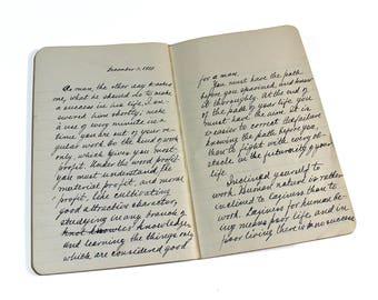 "Early 1900's ""English"" Handwritten High School Studies Notebook"