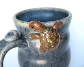 Bernard, the turtle mug in blue, IN STOCK