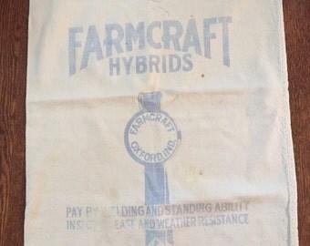 Vintage Farmcraft Seed Sack -  Oxford, Indiana