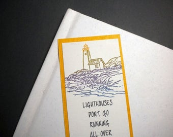 GUIDING LIGHT - Bookmark with inspirational quote
