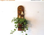 ON SALE Vintage houseplant holder, wall hanging