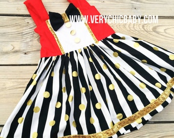 Ringmaster Dress Circus Costume Twirly Dress Girls Boutique