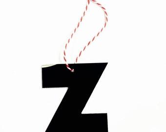 """Vinyl Record Art: Letter """"Z"""" Ornament"""