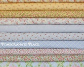 10 fat quarter bundle GUERNSEY in sky and yellow .. Brenda Riddle Designs .. Moda fabric .. yellow, and Blue colorway