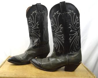 Vintage Western Nocana Cowboy Boots - Size 9 D
