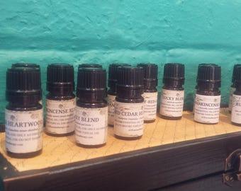 dT MLM Knock-Off Set 5 Unique Oils including Arborvitae, Cilantro, Wild Orange, White Fir