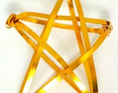 "6.5"" custom gold basket style star tree topper"