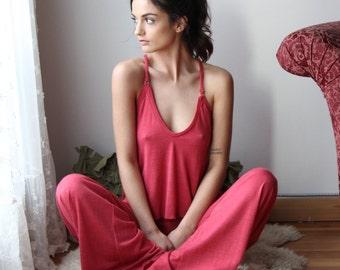 womens sweater pajama set - wool blend lounge wear lingerie and sleepwear range MALLARD - made to order