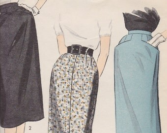 7002 Advanced Pencil Skirt 1950's Vintage Original