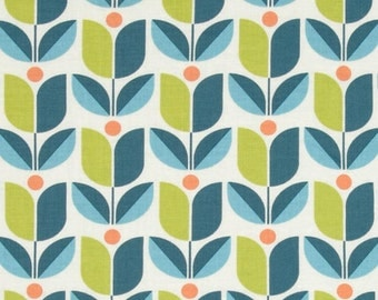 SALE - 1 yard - Tulip in eucalyptus, Flora collection by Joel Dewberry