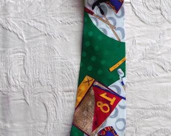 Vintage 1990 Nicole Miller Silk Necktie GOLF Tie Fathers Day