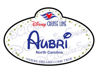 Disney Cruise Personalized Name Tag Door Magnet- Stars