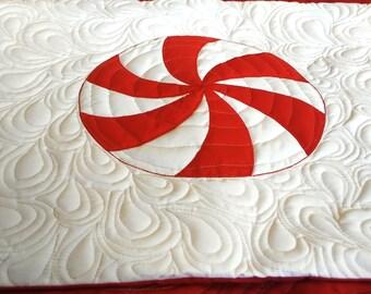 Matching Pillow Shams - Peppermint Swirl - Fits Standard Size Pillow