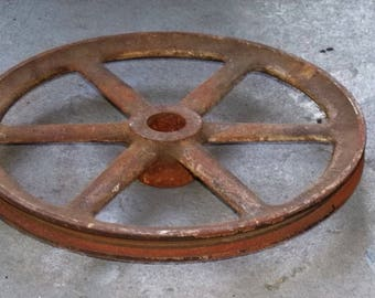 Industrial Pulley Wheel Antique Washing Machine
