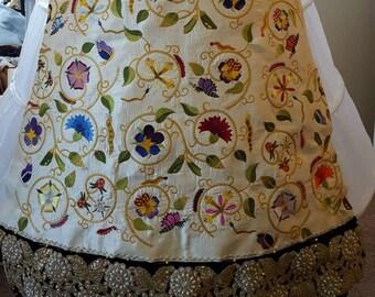 Forepart / Forepanel, Custom Embroidered; Renaissance, Tudor, Elizabethan - MADE TO ORDER