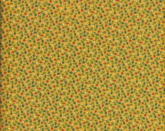 """1 Yard 44"""" Wide Yellow Tiny Floral Print Fabric 100% Cotton Quilting, Apparel"""