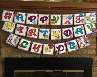 Shopkins Birthday Garland Banner