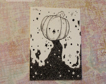 Original Inktober ACEO No 13 Jack  lowbrow art