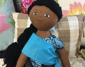 Narita Doll: 18 inch doll, OOAK doll by Refugee Sewing Society of Friends Of Refugees