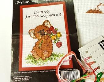 Janlynn Cross Stitch Kit Koala Suzys Zoo