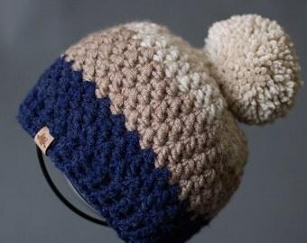 CROCHET BEANIE PATTERN Crochet Rainer Beanie Hat Pattern - Sizes Newborn to Adult