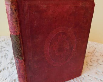 1860 Victorian Antique Childrens Book Little Frankie And His Cousin Christian Moral Character Tale