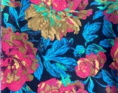 Reserved for Elizabeth, Philip Jacobs Blowsey, black OOP, rare, vhtf, one yard floral fabric
