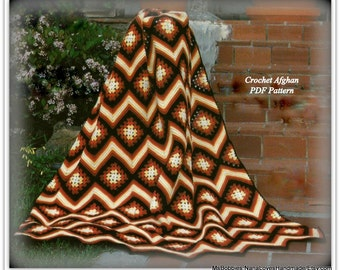 Aztec Afghan Crochet Pattern - PDF 71240818 - Ripple and Granny Squares