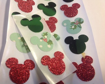 Christmas Mickey Mouse Stickers 32 pc