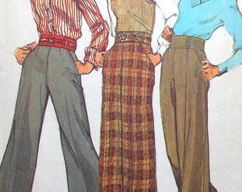 Vintage Pants Sewing Pattern Simplicity 5805 Size 10