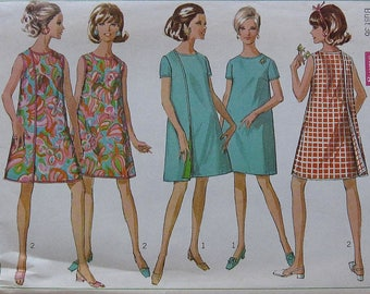 Vintage Wrap Around Dress Pattern Simplicity 7484 Size 14 wraparound