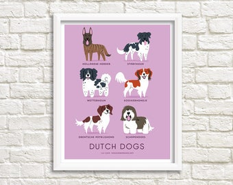 Dog Breeds print: DUTCH DOGS art print (dog breeds from the Netherlands)