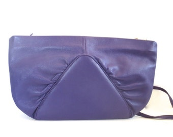 Vintage Brio Violet Purple Leather Purse