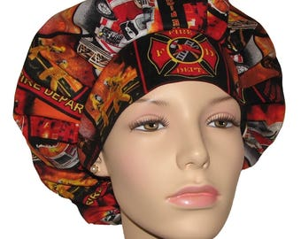 Scrub Hats - Firefighters, Fire Department Fabric
