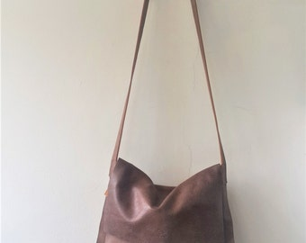 SALE Brown messenger bag ,cross-body leather Bag