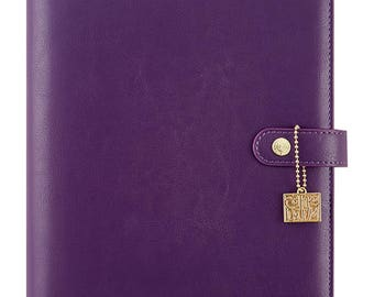 Grape Carpe Diem A5 Planner Binder Purple (IN STOCK) Free Washi Tape with this order