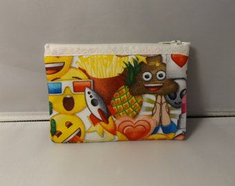 Emoji Fabric Coin Purse / Pouch- Handmade