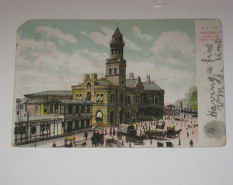 Post Card Emigrant Landing New York 1906 Historic Building Immigration Postcard
