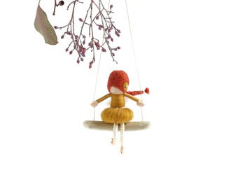 Needle Felted Fairy Doll - MADE TO ORDER