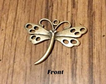 Antique Bronze Butterfly Pendant  - SALE