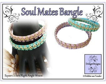 Tila Beading Pattern, Tutorial, Bangle - SOUL MATES