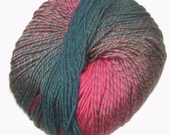 Knitting Fever Painted Sky Yarn #216 Pink Seafoam Superwash Wool Self Striping