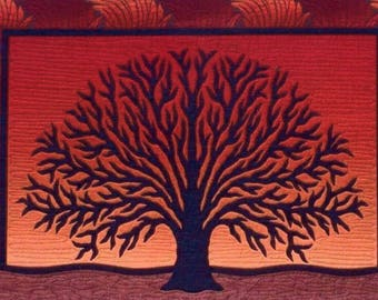 Threaded Timbers Tree Silhouette HD Designs Landscape Fusible Applique Pattern