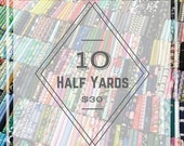 Black Friday SALE Modern Fabric Bundle-10 Random Half Yards