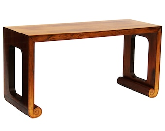 Rosewood Console or Desk by Baker Furniture Asian Modern Ming Style Lines