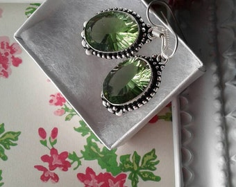 Green Topaz Earrings
