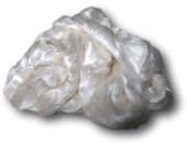 Seacell Fibre for Spinning - Vegan Non-Wool Cellulose Silk White Fiber